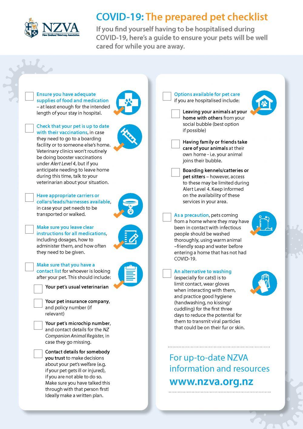COVID-19: The Prepared Pet Checklist